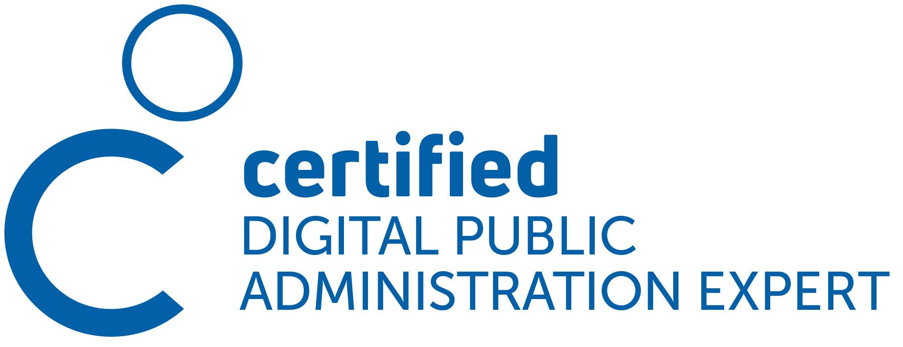 Produktlogo Zertifizierung Certified Digital Public Administration Expert