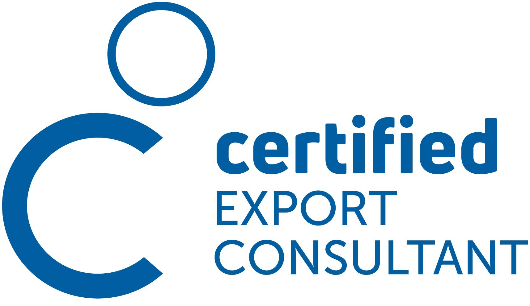 Logo Zertifizierung Certified Export Consultant