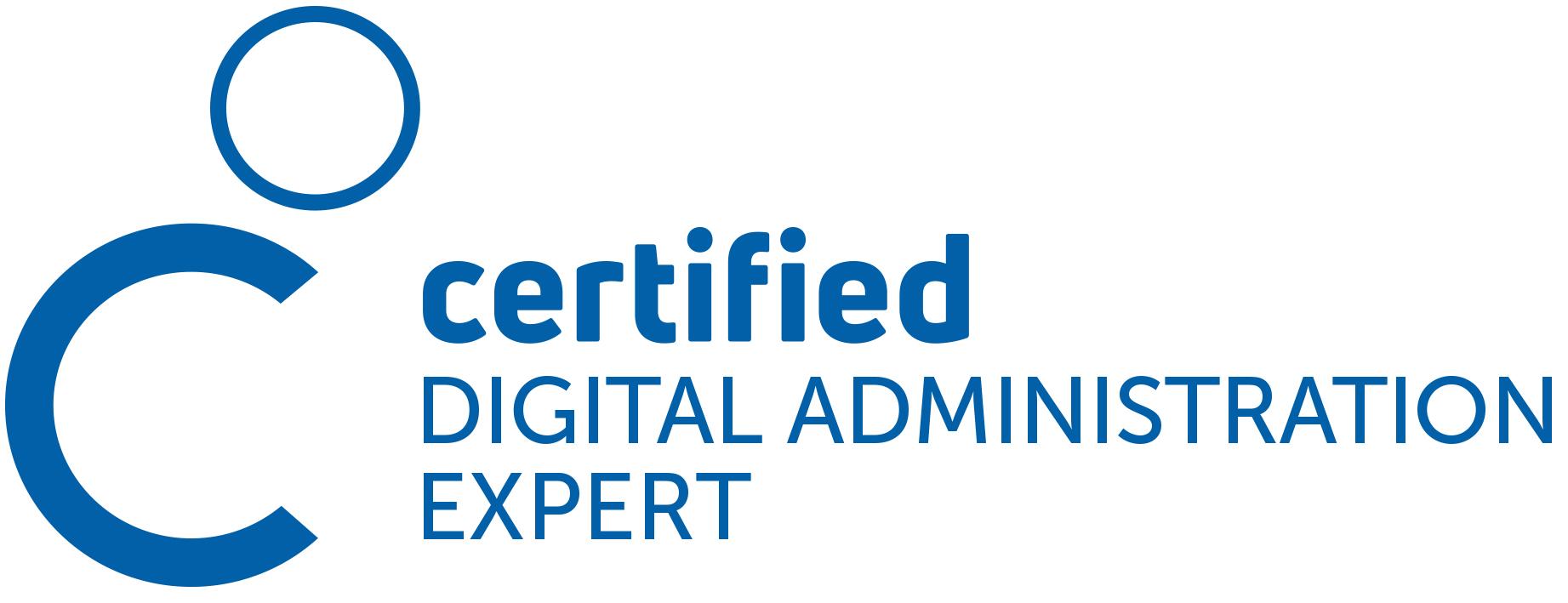 Logo Zertifizierung Certified Digital Public Administration Expert