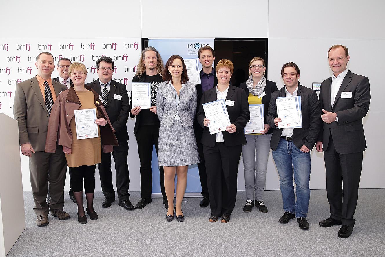Verleihung der Zertifikate WebAccessibility Experts