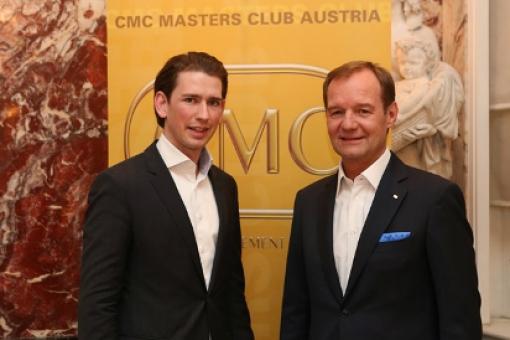 Außenminister Sebastian Kurz beim CMC Masters Club