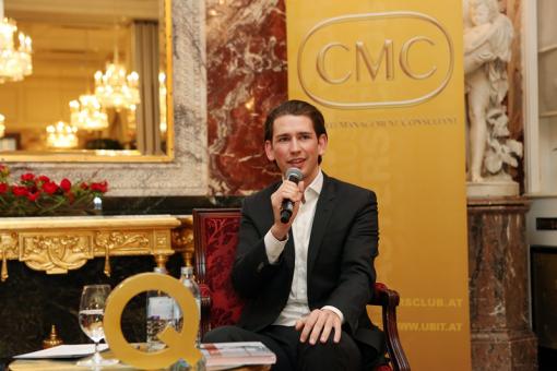 Außenminister Sebastian Kurz zu Gast im CMC Masters Club des Fachverbandes UBIT